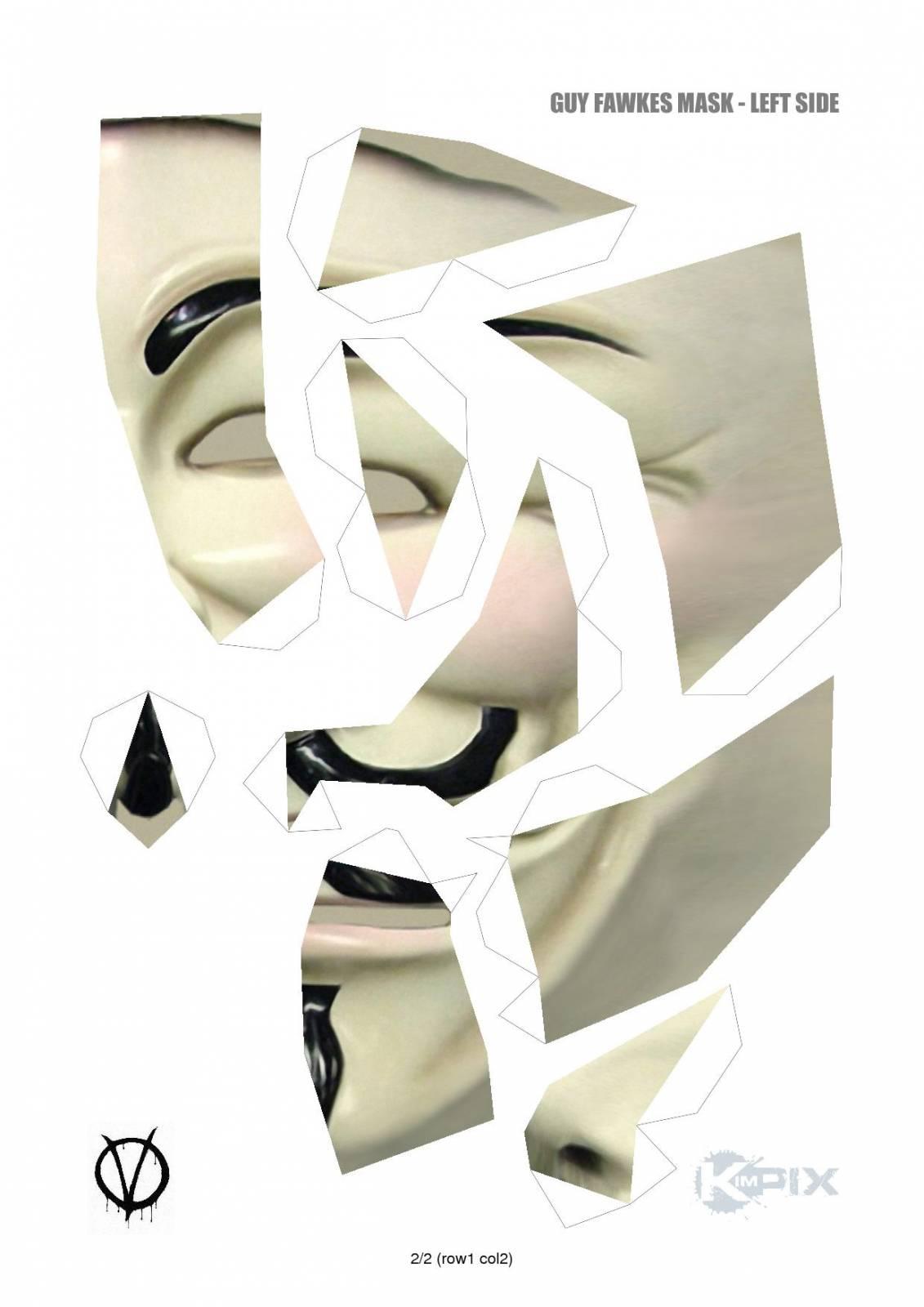 Как сделать маску гая фокса своими руками видео