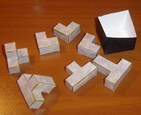Как сделать головоломку из бумаги все