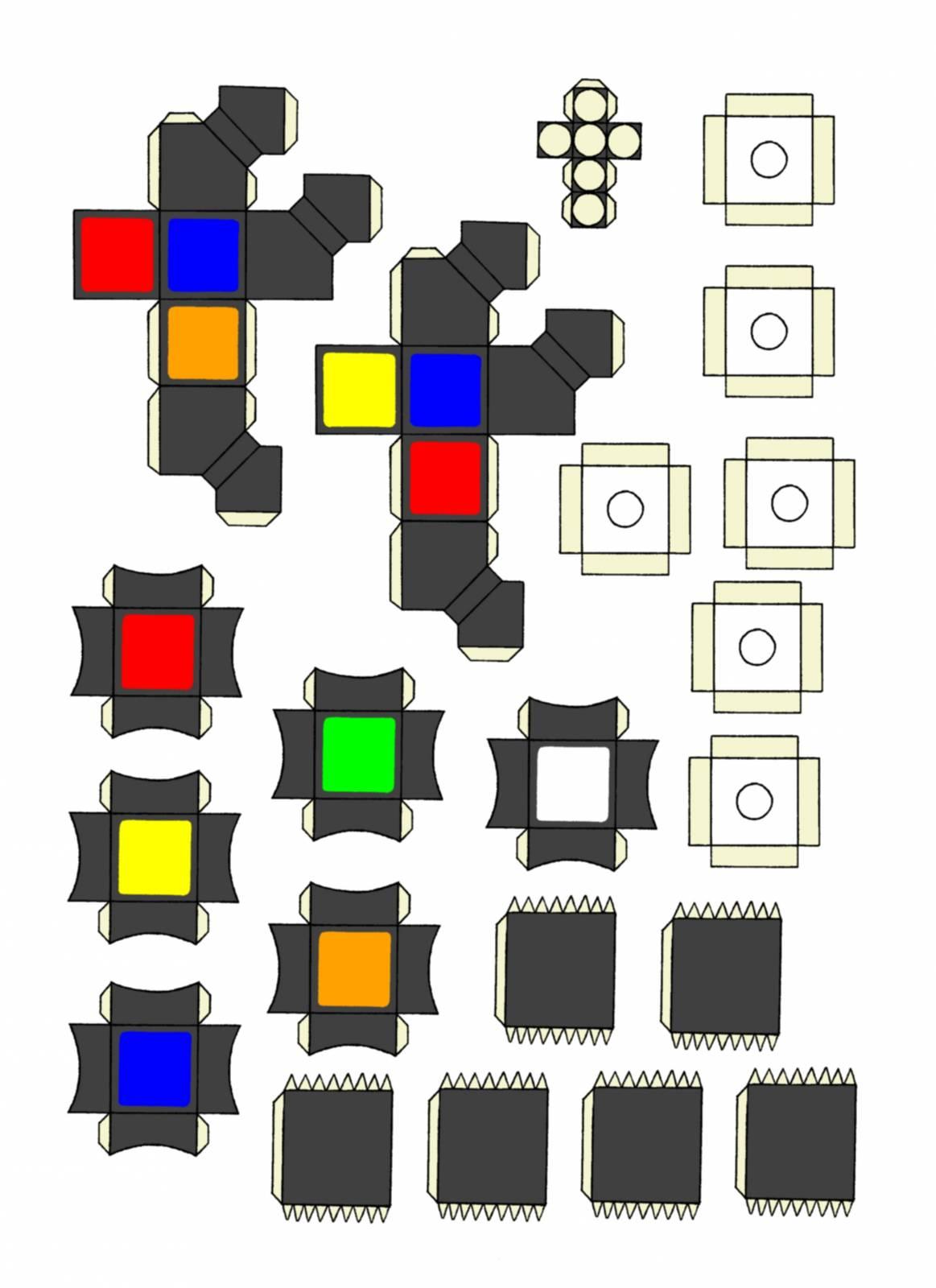 Как сделать кубик рубика своими руками из бумаги 94